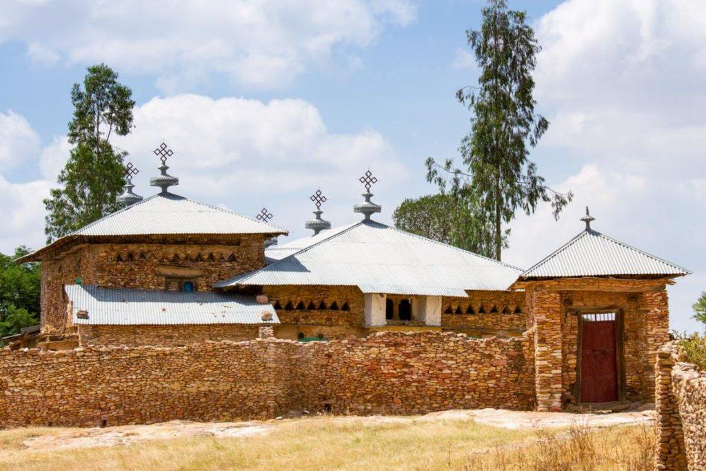 Blick auf das Kloster Debre Damo - Äthiopien Reisebericht in Bildern