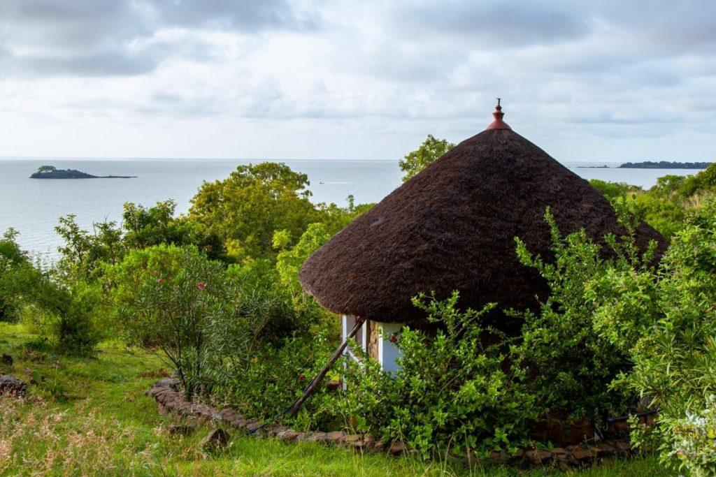 Unterkunft im Tim & Kim Villagein Gorgora mit Blick auf den Tana See - Äthiopien Reisebericht in Bildern