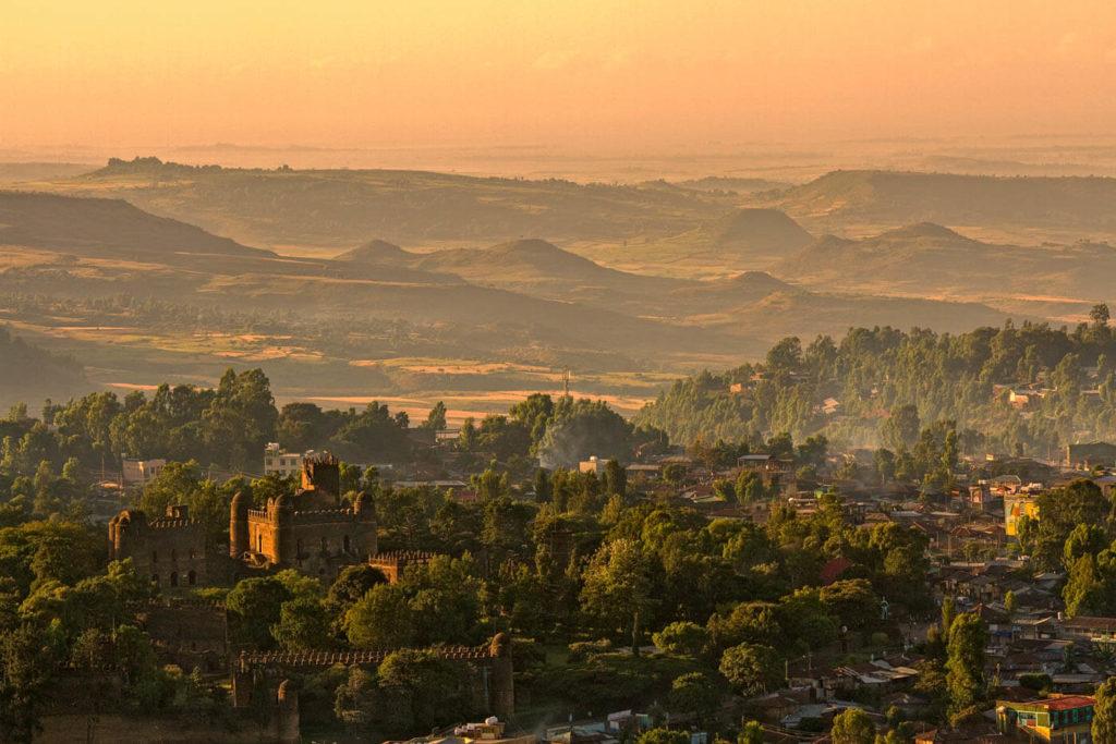 Blick auf Gonder (Gondar) - Äthiopien Reisebericht in Bildern