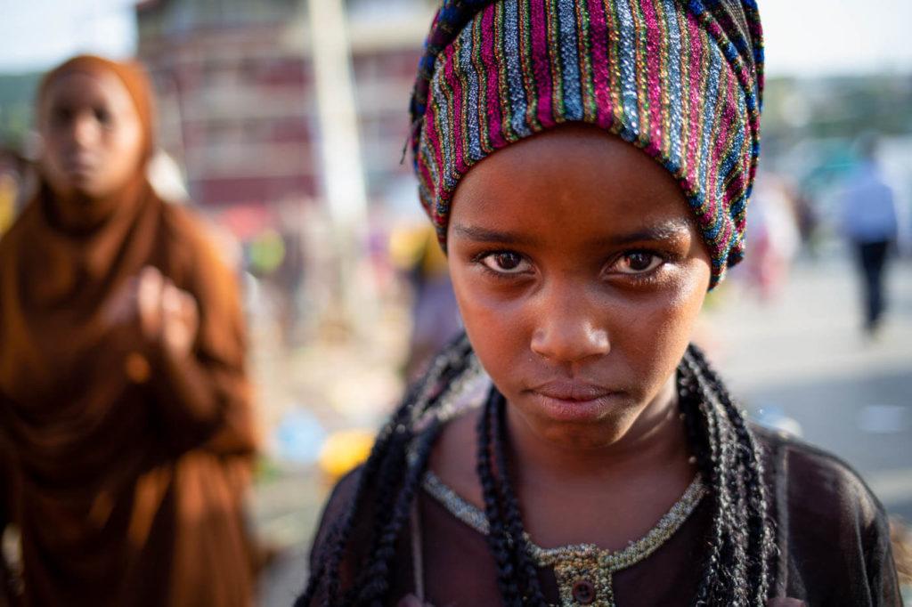 Portrait äthiopisches Mädchen in Harar - Äthiopien Reisebericht in Bildern