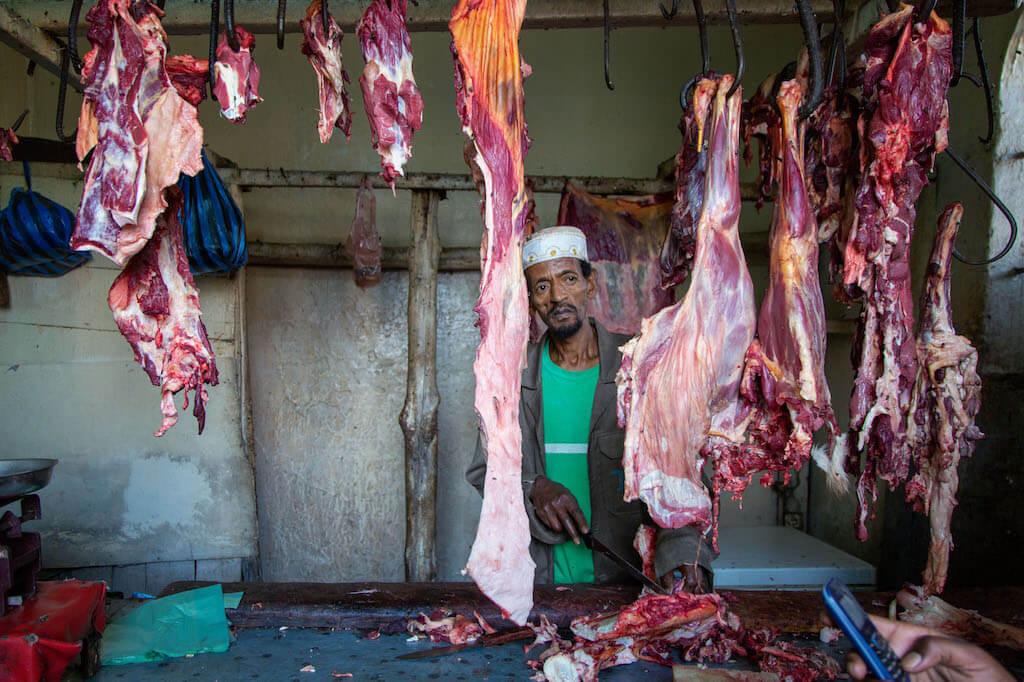 Portrait Kamelmetzger in Harar - Äthiopien Reisebericht in Bildern