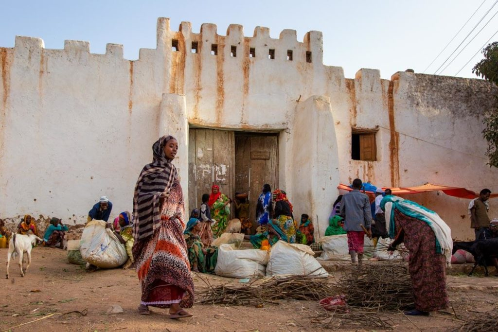 Stadtmauer in Harar - Äthiopien Reisebericht in Bildern