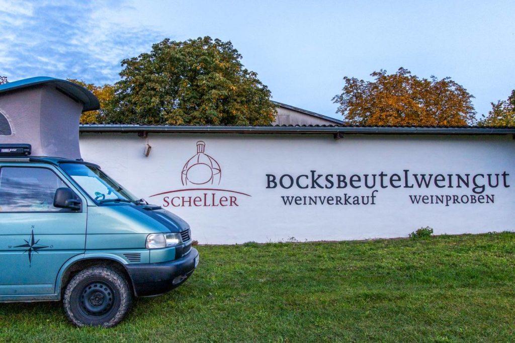 Landvergnügen Camping beim Winzer am Main in Stammheim - Bocksbeutelweingut Scheller
