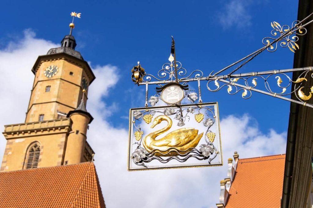 Kirchturm Volkach an der Mainschleife