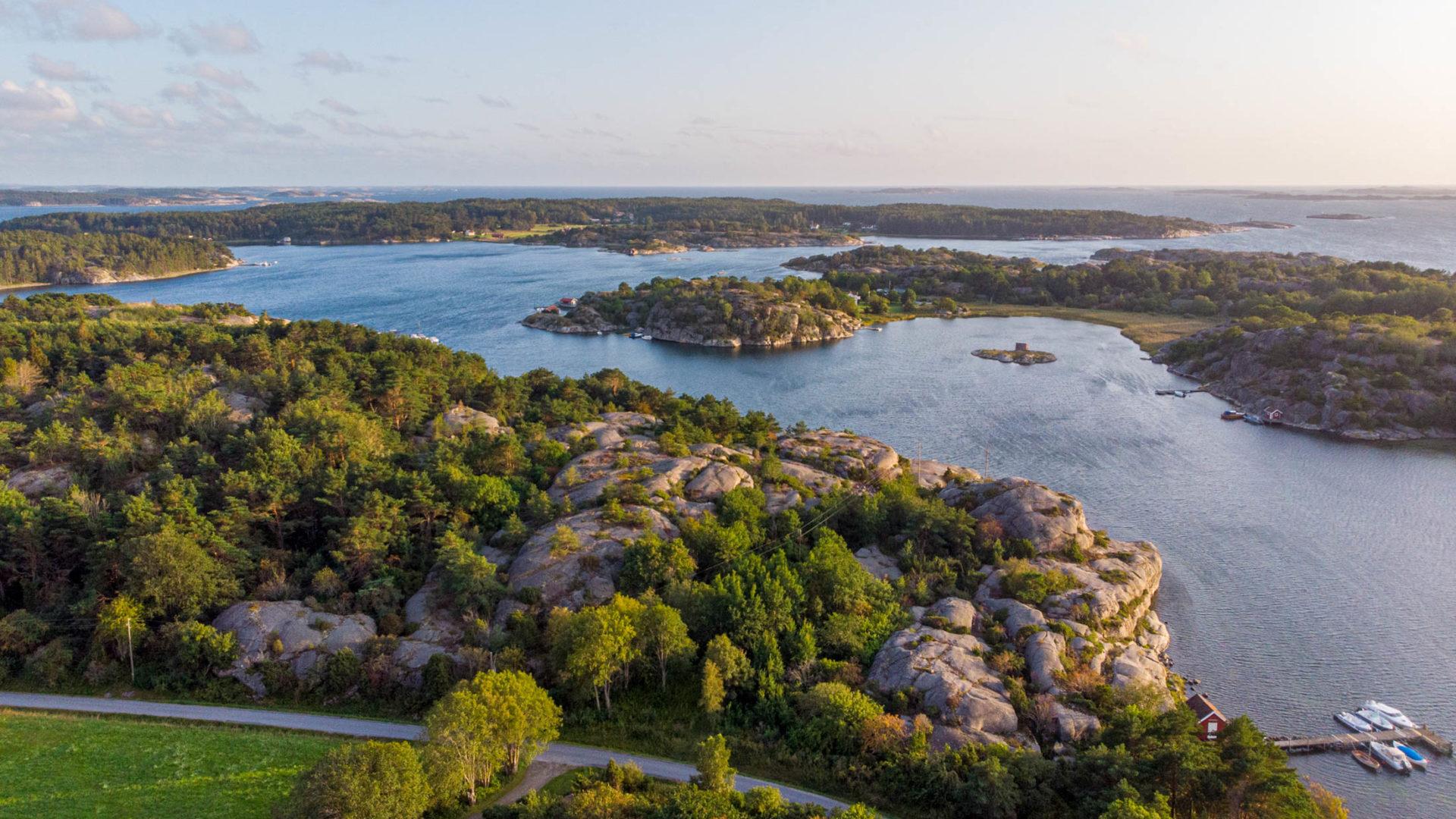 Blick auf die Schäreninseln in Schweden - Skandinavien Rundreise mit dem Auto