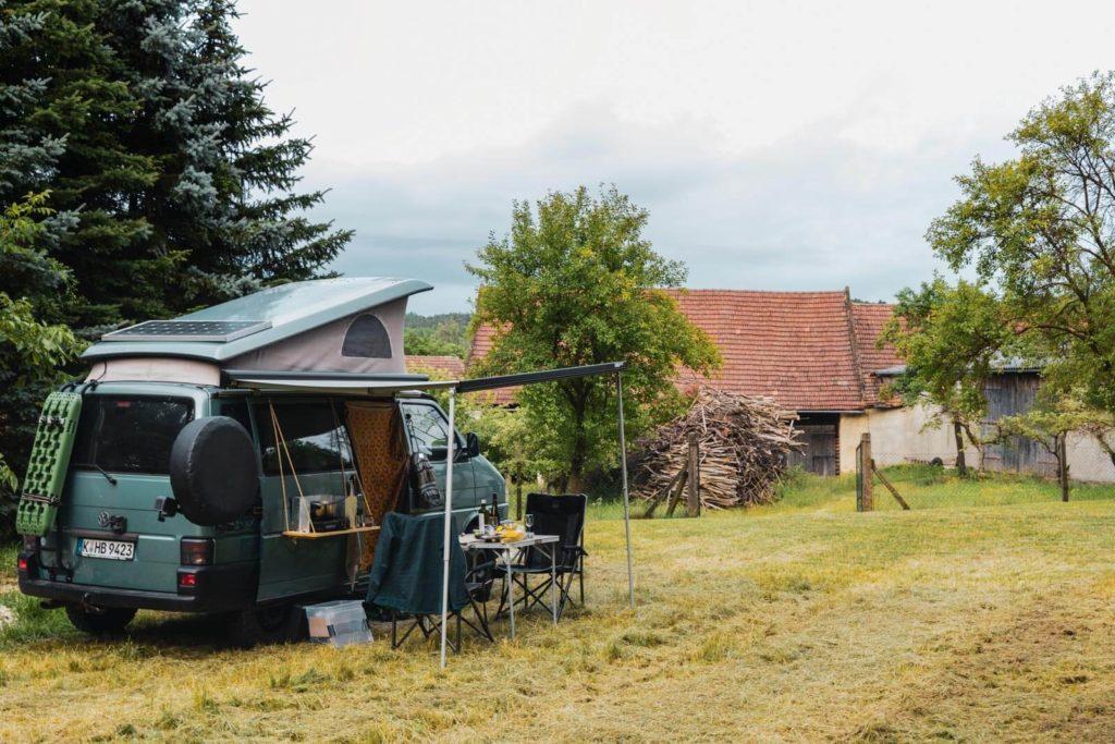 Wohnmobilstellplatz beim Winzer in Österreich - Bauernleben auf dem Winzerhof Stauffer im Straßertal, Österreich