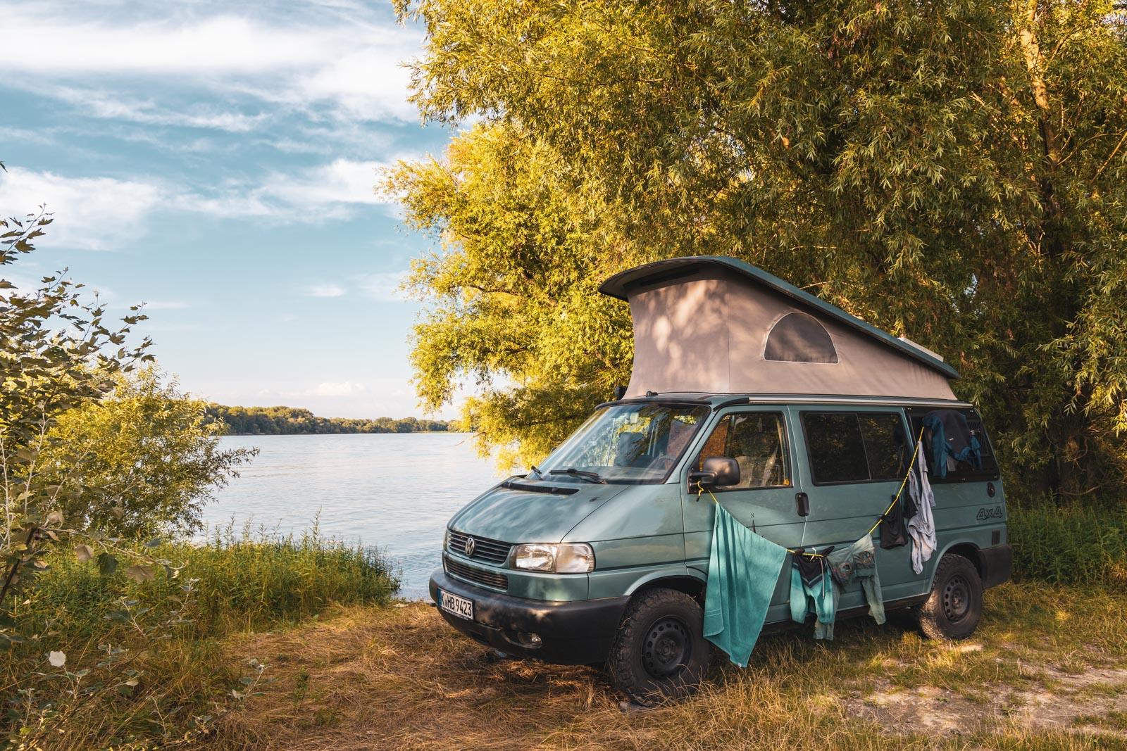 Wildcamping in Ungarn an der Donau - Transit durch Ungarn nach Rumänien