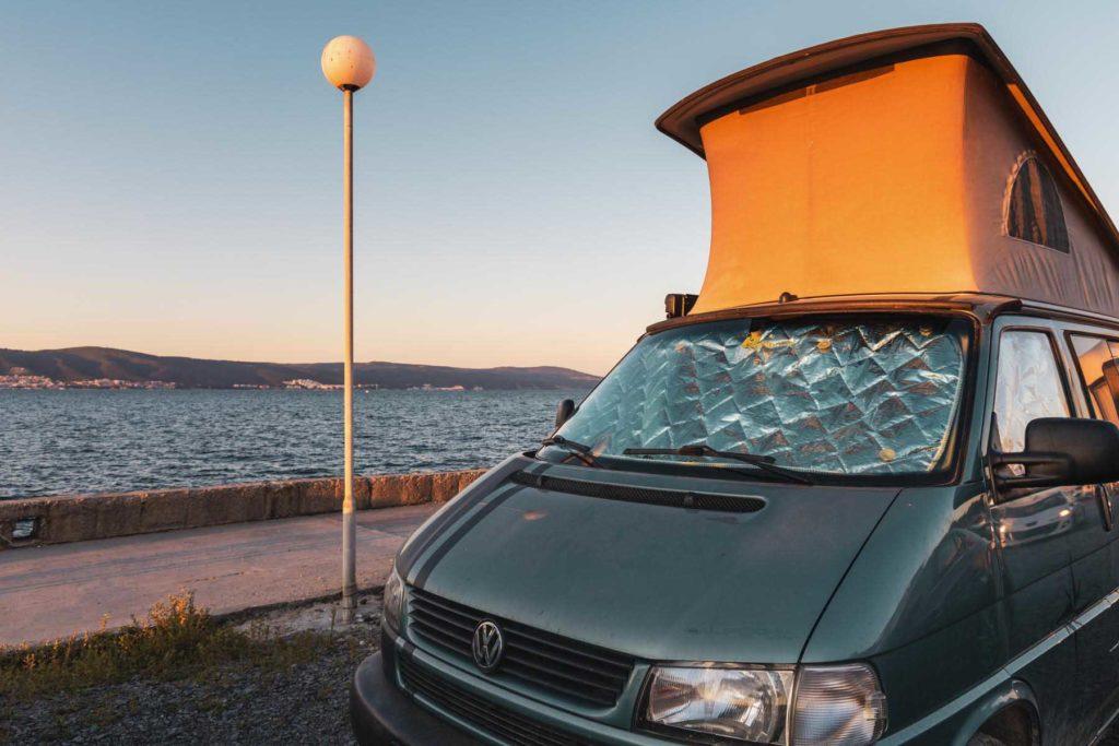 Camping auf dem Parkplatz in Nesebar direkt am Meer - Mit dem Wohnmobil nach Bulgarien ans Schwarze Meer