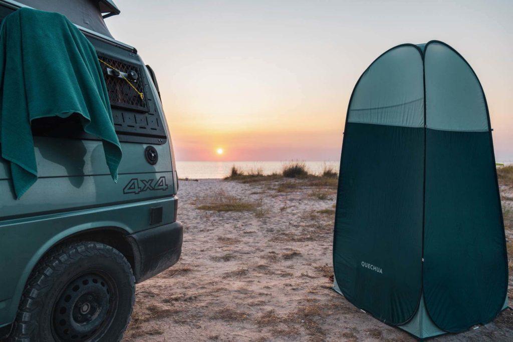 Wildcamping am Strand in Krapets, Bulgarien - Mit dem Wohnmobil nach Bulgarien ans Schwarze Meer