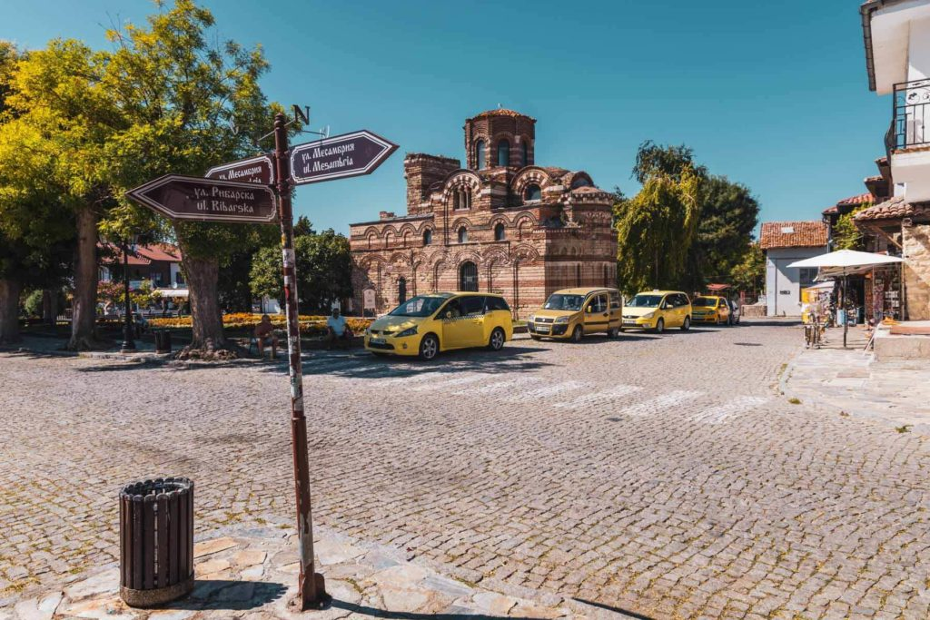 Die Altstadt von Nesebar am Schwarzen Meer in Bulgarien