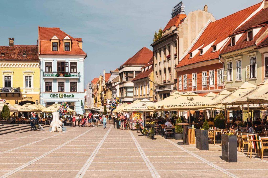 Altstadt in Brașov - Rumänien Roadtrip mit dem Wohnmobil