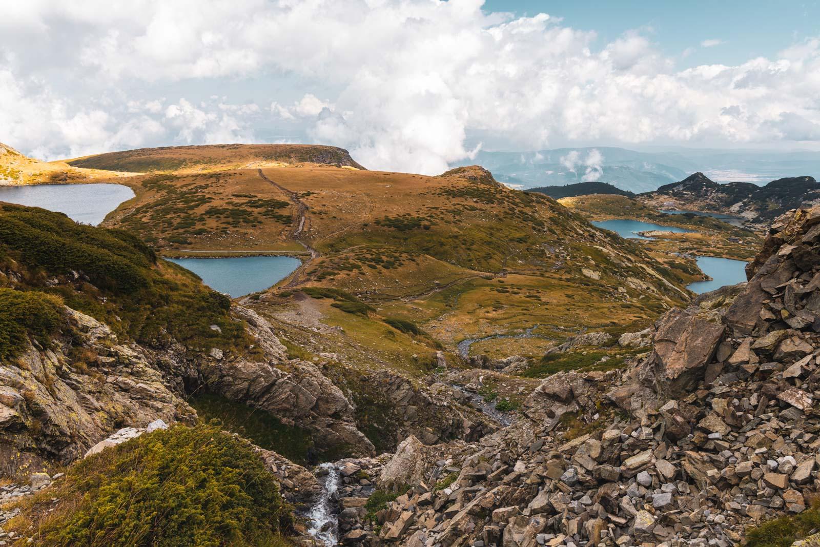 Blick auf die Sieben Rila Seen im Rila Nationalpark